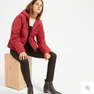 Everlane Short Puffer Jacket Ruby S Small